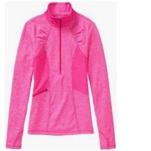 Athleta Olompali Half Zip in Brilliant Magenta